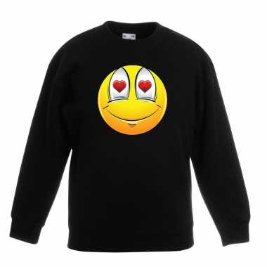Smiley sweater verliefd zwart kinderen