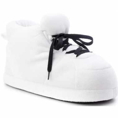 Sneakers sloffen/pantoffels wit voor kinderen