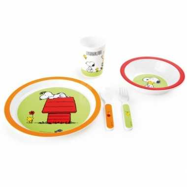 Snoopy kinder servies 5 delig