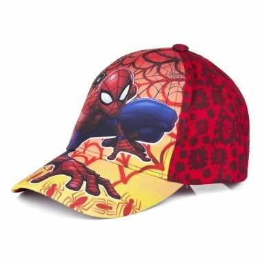 Spiderman pet/cap vlammen rood voor kinderen