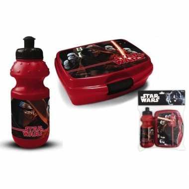 Star wars lunchset rood voor kinderen