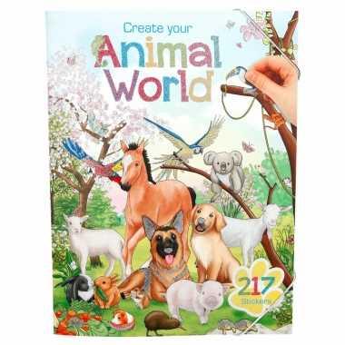 Stickerboek dieren wereld voor kinderen