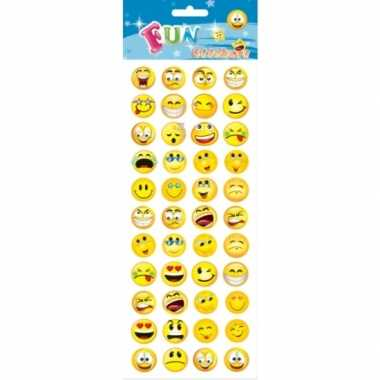 Stickervel smiley 44 stuks voor kinderen