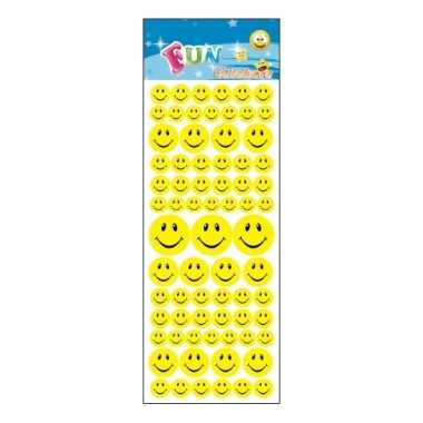 Stickervel smiley faces 72 stuks