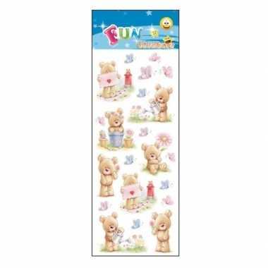 Stickervel teddyberen