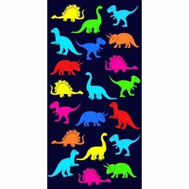 Strandlaken/badlaken dinosaurus print dino 70 x 140 cm