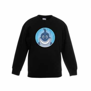 Sweater haai zwart kinderen