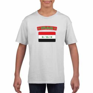 T shirt met irakese vlag wit kinderen