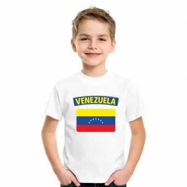 T shirt met venezolaanse vlag wit kinderen