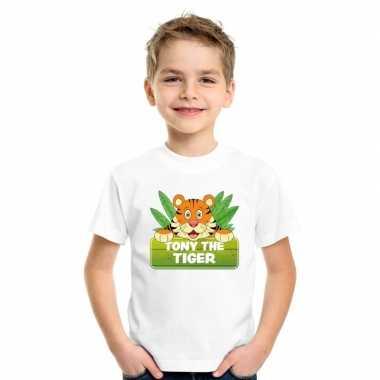 T-shirt wit voor kinderen met tony the tiger