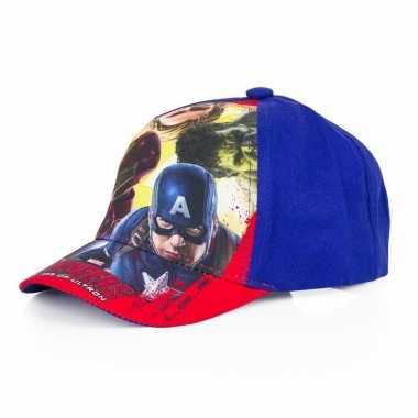 The avengers pet/cap blauw voor kinderen
