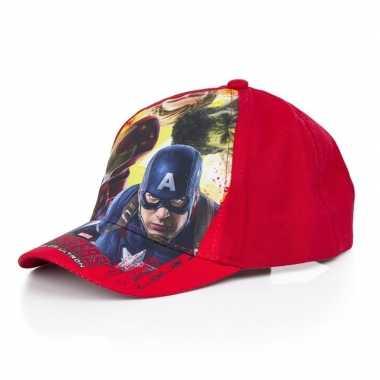 The avengers pet/cap rood voor kinderen