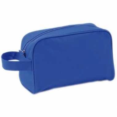 Toilettas blauw met handvat 21,5 cm voor kinderen