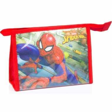 Toilettas spiderman rood 21,5 cm voor kinderen