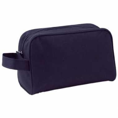 Toilettas zwart met handvat 21,5 cm voor kinderen