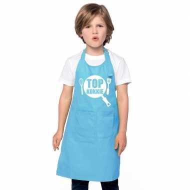 Top kokkie keukenschort blauw kinderen