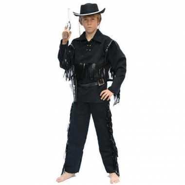 Toppers - cowboy kostuum zwart voor kinderen