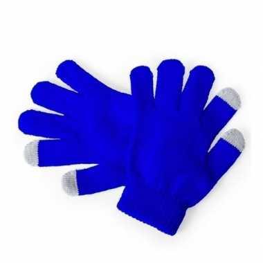 Touchscreen handschoenen kind blauw