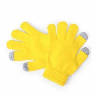 Touchscreen handschoenen kind geel