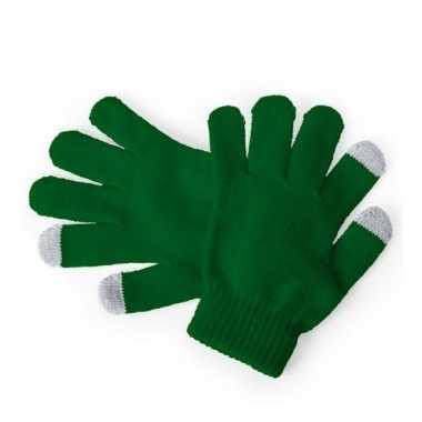 Touchscreen handschoenen kind groen
