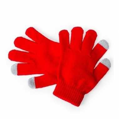 Touchscreen handschoenen kind rood