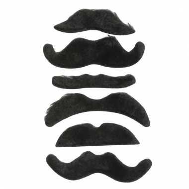 Verkleed snorren set zwart type 1 voor kinderen