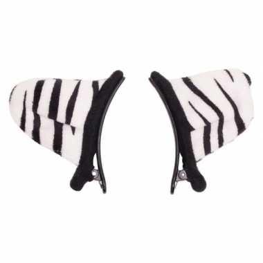 Verkleed/speelgoed tijger wit dieren oortjes clip voor kinderen