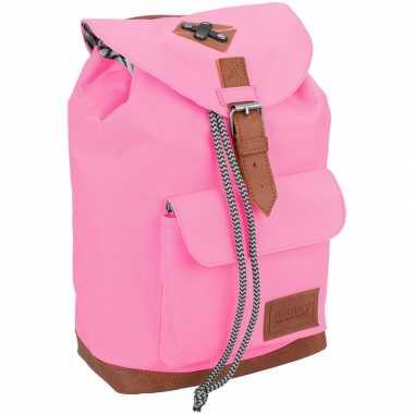 Vintage rugzak/rugtas roze 29 cm voor kinderen