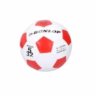 Voetbal rood / wit voor kinderen maat 5