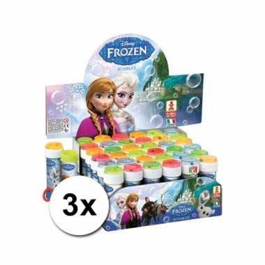 Voordelige frozen bellenblazen set 3x