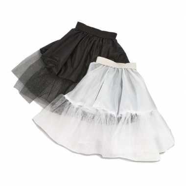 Voordelige zwarte kinder petticoat met tule