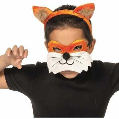 Vossen masker en tiara voor kinderen