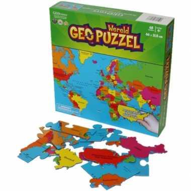 Wereld puzzel voor kinderen