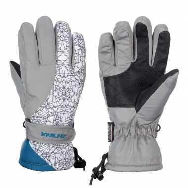 Winter handschoenen starling mirre grijs/wit voor kinderen