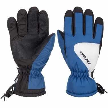 Winter handschoenen starling riva kobalt/zwart/wit voor kinderen