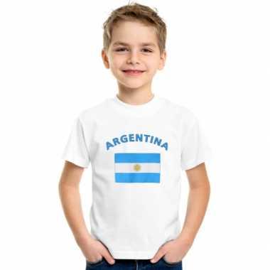 Wit kinder t-shirt argentinie