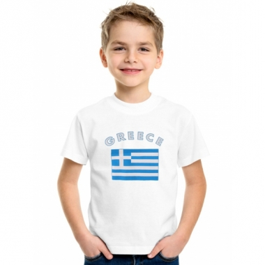 Wit kinder t-shirt griekenland