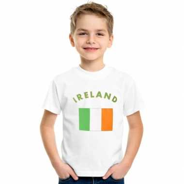 Wit kinder t-shirt ierland