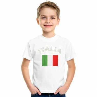 Wit kinder t-shirt italie