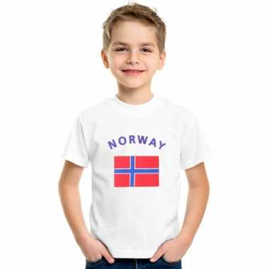 Wit kinder t-shirt noorwegen