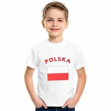 Wit kinder t-shirt polen