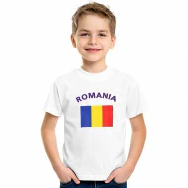 Wit kinder t-shirt roemenie