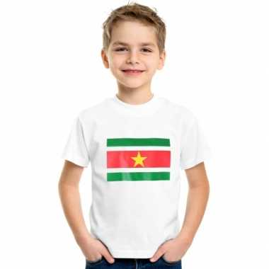 Wit kinder t-shirt suriname