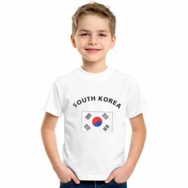 Wit kinder t-shirt zuid korea