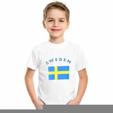 Wit kinder t-shirt zweden