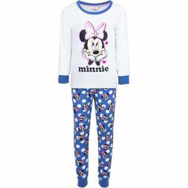 Witte minnie mouse pyjama voor meisjes