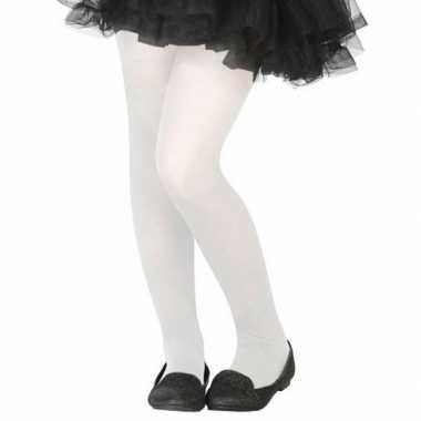 Witte verkleed panty voor kinderen