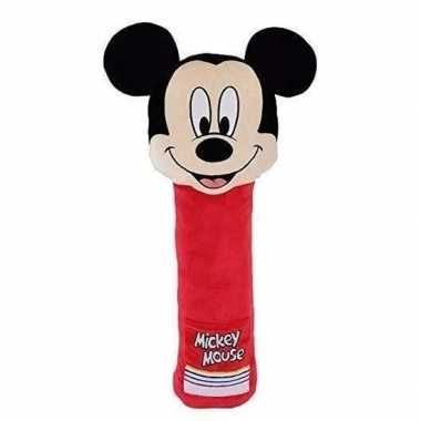 Xl pluche mickey mouse auto gordelhoes/gordelbeschermer 50 cm