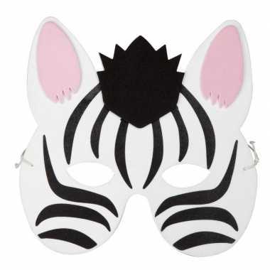 Zebra foam masker voor kinderen