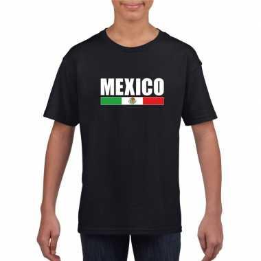 Zwart mexico supporter t-shirt voor kinderen